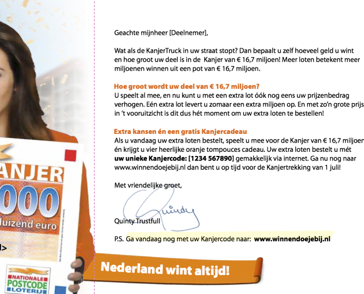Direct Mail concept: OranjeKanjer