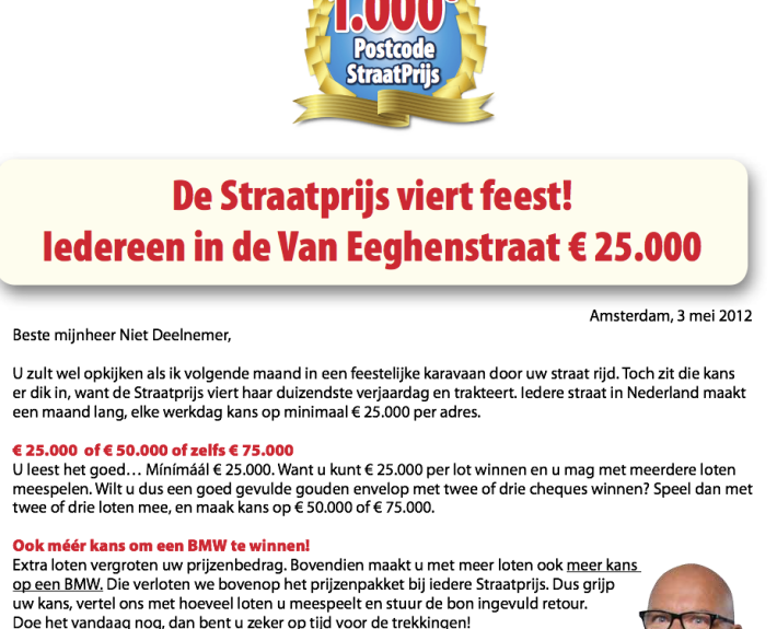 Direct Mail Straatprijs
