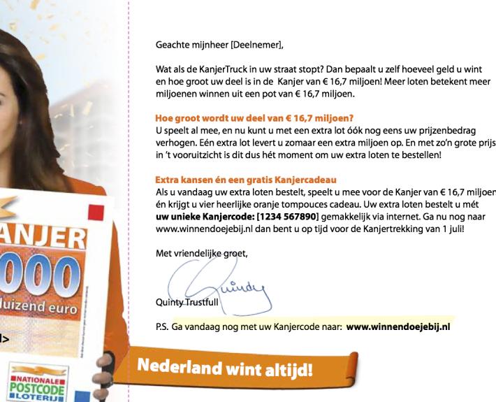 Direct Mail concept: OranjeKanjer